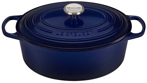 Le Creuset of America LS2502-3178SS Signature Oval Dutch Oven 675 qt Indigo