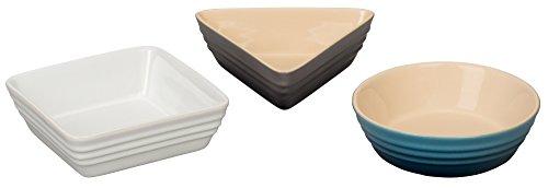 Le Creuset of America Stoneware 3 Piece Serving Dish Set Multicolor