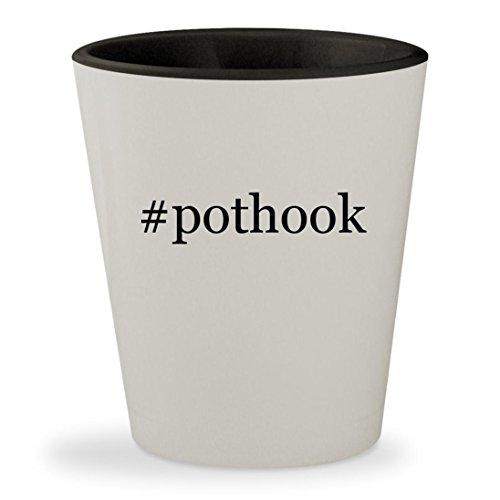 pothook - Hashtag White Outer Black Inner Ceramic 15oz Shot Glass