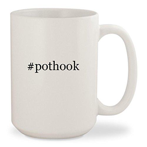 pothook - White Hashtag 15oz Ceramic Coffee Mug Cup
