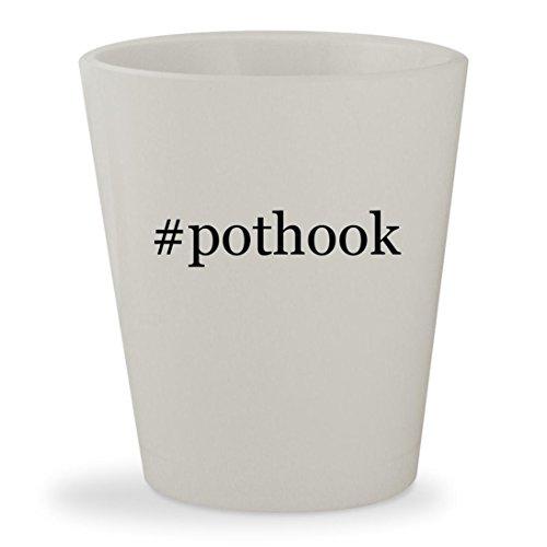 pothook - White Hashtag Ceramic 15oz Shot Glass