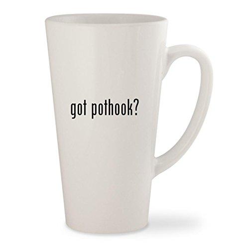 got pothook - White 17oz Ceramic Latte Mug Cup