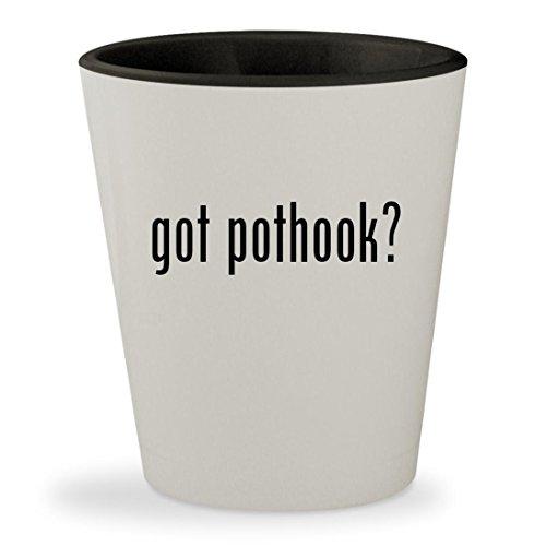 got pothook - White Outer Black Inner Ceramic 15oz Shot Glass