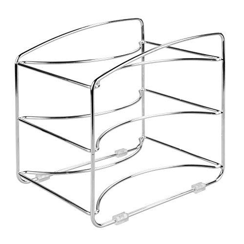 InterDesign Classico Kitchen Organizer Rack for Aluminum Foil Sandwich Bags Plastic Wrap - 3 Shelves Chrome