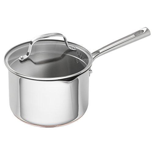 Emeril Lagasse Stainless Steel Copper Core Saucepan 3 quart Silver