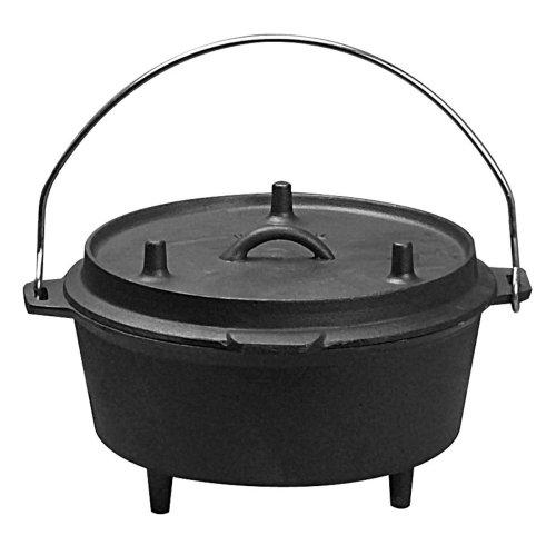 Universal Housewares Pre-Seasoned Cast Iron Camping 5-Quart Dutch Oven