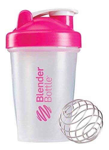 BlenderBottle Classic Shaker Bottle ClearPink 20-Ounce