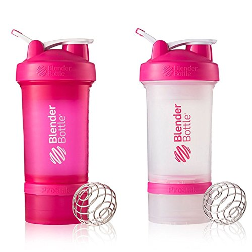 Blender Bottle ProStak 22 OZ Mixer Protein Shaker Cup - MIX METCH PINK COLORS
