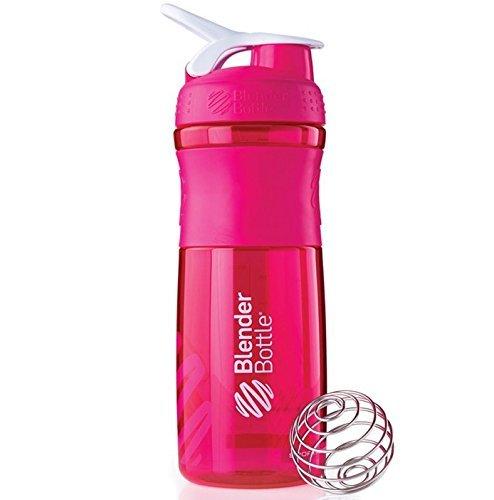 Blender Bottle Sport Mixer Protein Shaker Cup 28 oz BlenderBottle Sport - PinkWhite