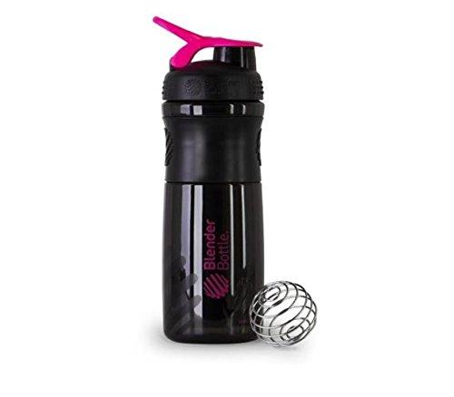BlenderBottle SportMixer Protein Shaker Cup 28 oz Blender Bottle Sport Mixer Health Fitness BlackPink