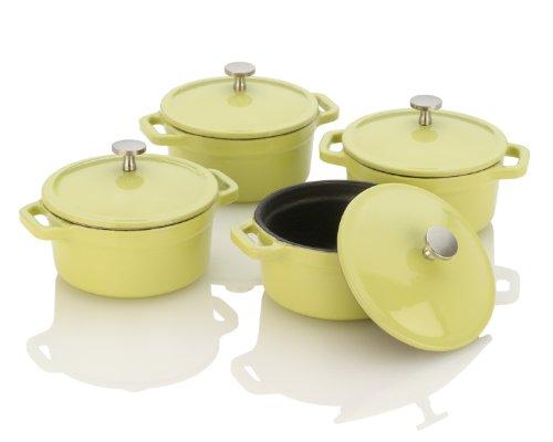 Fagor Michelle B Mini Dutch Ovens with Lid Lemon Lime