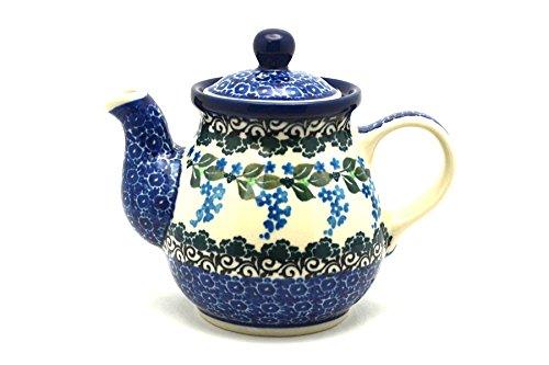 Polish Pottery Gooseneck Teapot - 10 oz - Wisteria