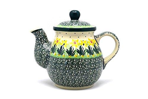 Polish Pottery Gooseneck Teapot - 20 oz - Daffodil