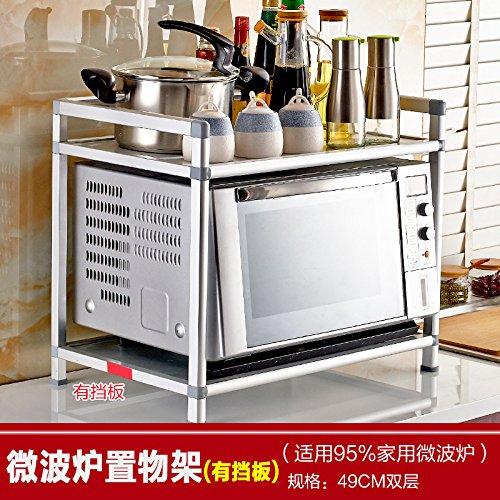 BGmdjcf Double Microwave Rack Kitchen Racks Oven Microwave Oven Rack Shelving Commodities Storage Tiers 0138