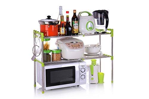 BGmdjcf Microwave Oven Kitchen Racks-Admission Mechanism Stainless Steel Minimalist Racks With Minimalist  Korea 61Cm305Cm498 Green