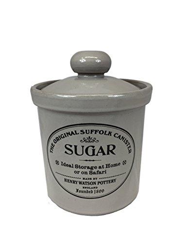 Henry Watson Original Suffolk Medium Sugar Canister Jar with Ceramic Lid in Dove Grey