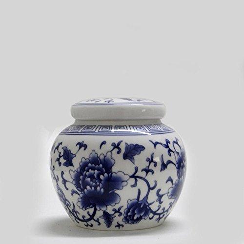 Tea caddy tins tea leaf set tea canister teapot box sealed jar dried fruit cans Peony