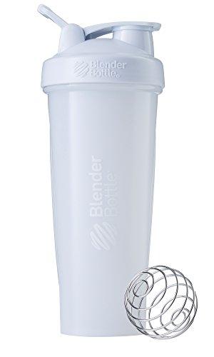 BlenderBottle Classic Loop Top Shaker Bottle WhiteWhite 32-Ounce