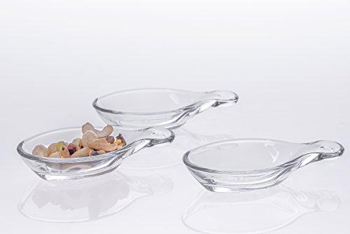 Sauce Bowl Set of 6 Shatter Resistant Luxury Tableware Elegant Glassware Kitchen Accesories Clear