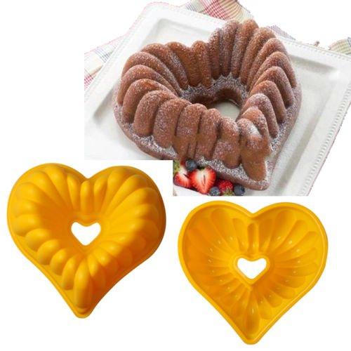 FidgetGear Heart Silicone Cake Bundt Mold Pan Muffin Bread Pizza Pastry Bakeware Tray Tools