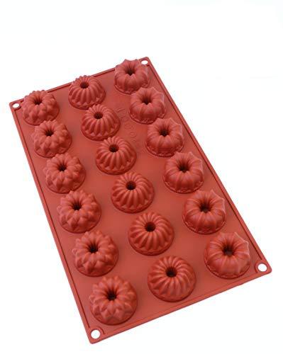 Oggibox 18-Cavity Silicone Mini Fancy Bundt Tea Cake Chocolate Candy and Gummy Mold