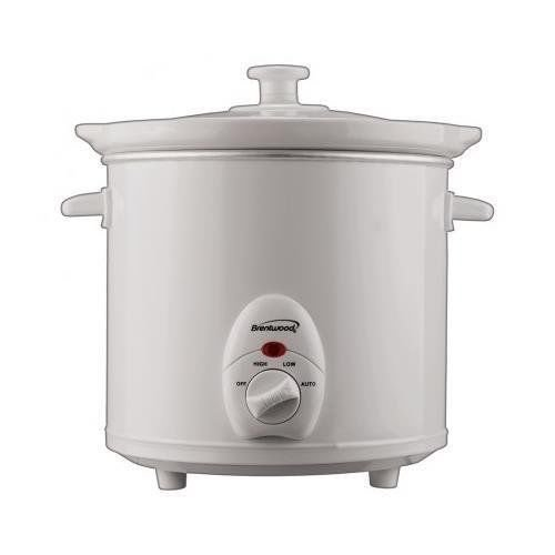 Ship from USA Brentwood SC-135W 30 Quart Slow Cooker in White ITEM NO8Y-IFW81854235847