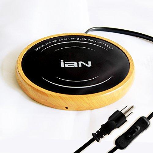 IAN Desktop Coffee MugCup Warmer Beverage Warmer for OfficeHome Use Light Wood Grain