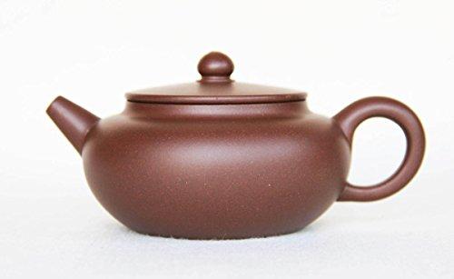 Chinese Yixing Handmade Zisha Teapot Purple Clay Old Zi Ni Flat Cover 180cc