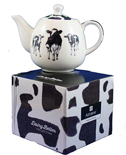 Ashdene Bone China Teapot with Infuser Dairy Belles