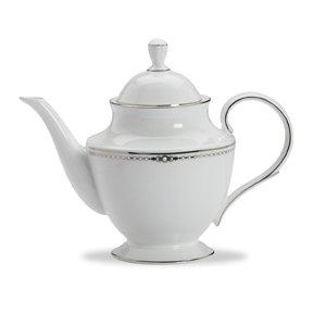 Lenox Pearl Platinum Bone China Teapot