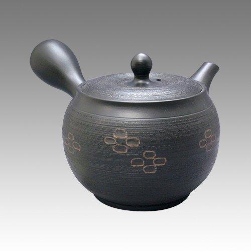 TOKYO MATCHA SELECTION - Tokoname Kyusu teapot - SHUNJYUN - Cinnamon Cut 360ccml - obi ami stainless steel net Standard ship by Intl e-packet with Tracking Insurance