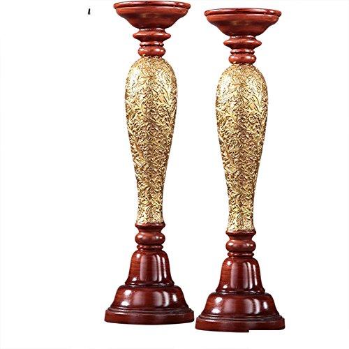 European top grade resin candle holder retro romantic candle ornaments-A
