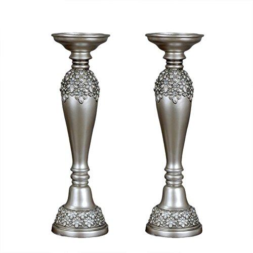 European top grade resin candle holder retro romantic candle ornaments-E