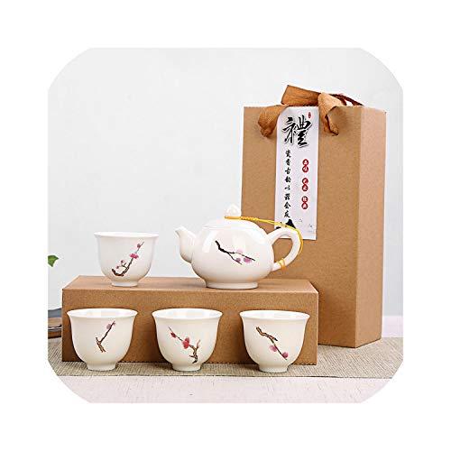 Exquisite Hand Painted Ceramic Tea setChina tea setKung Fu Tea CupTravel Tea Pot Chinese Porcelain Teacup Set Drinkware01