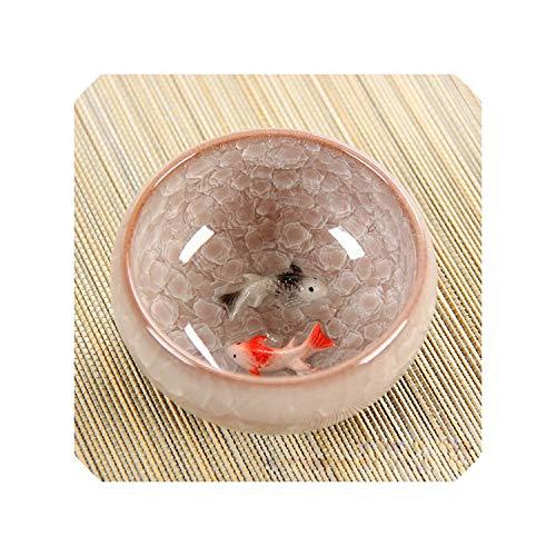 New Design 3D Ceramic double Fish tea CupKung Fu Tea Cup Set Crackle Glaze Travel Tea Bowl Chinese Porcelain Teacup Sets02