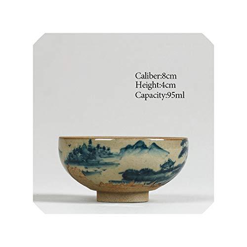 Chinese Ceramic tea cup 95ml Kung fu tea set porcelain Japanese Style Handmade painted teacup Small tea bowl