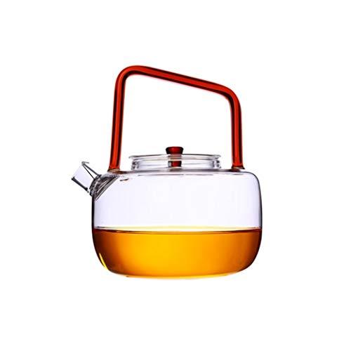DSEKO Glass Teapot - Loose Leaf Teapot with Infuser and Lid Teapot with Filter Transparent Teapot High Temperature Tea Set