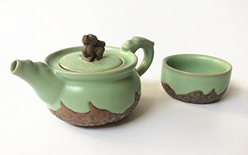 Eternal Loves L002 Chinese Kung Fu Tea Set - Porcelain Celadon Gaiwan Tea Pot and Cup Series Gongfu Tea Sets R2