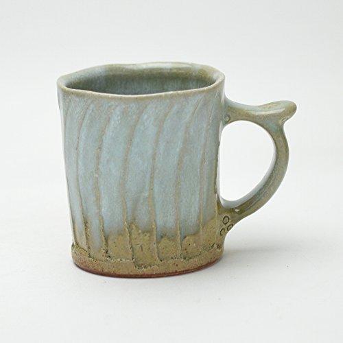 Hagi yaki Japanese ceramic Aohagi mug cup made by Tairei Tokimatsu