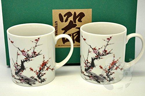 Japanese Mino Yaki Sushi Yunomi Tea Cup 2pc set 73  73  103cm 28  28  4inch6983