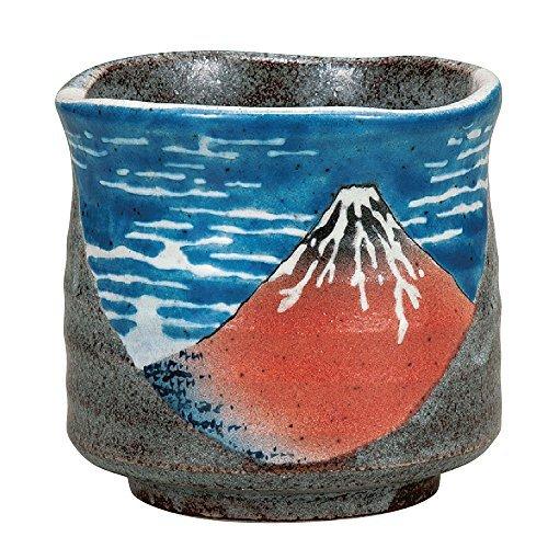 Kutani Yakiware Japanese Yunomi Tea Cup Hokusai