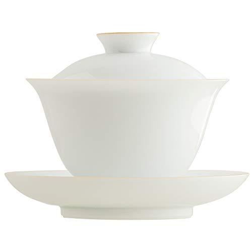 Jingdezhen Porcelain GaiwanChinese Ceramic Kuangfu Tea Bowl Cup608oz