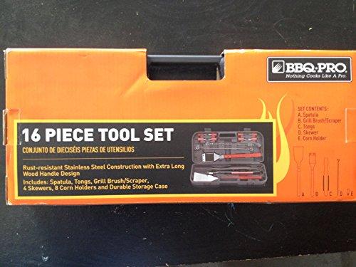 BBQ-PRO 16 piece BBQ Tool Set