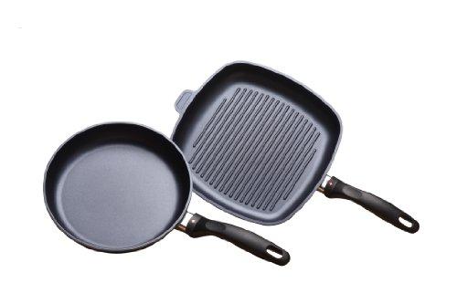 Swiss Diamond 2 Piece Set Fry Pan and Grill Pan