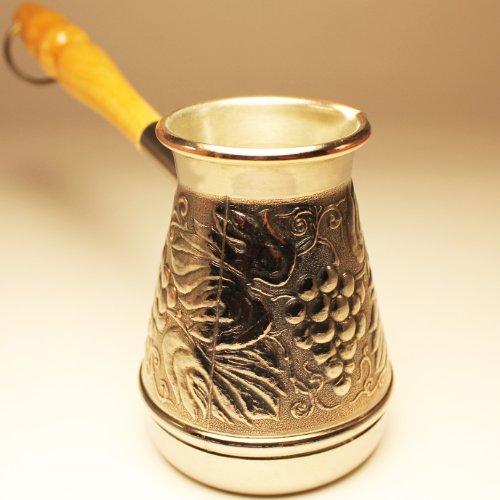 Turkish Coffee Pot jezve cezve ibrik Grape 4 Oz-120ML Copper Authentic