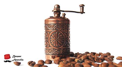 Turkish Handmade Grinder 30 Spice Grinder Salt Grinder Pepper Mill Antique Copper by Bazaar Anatolia