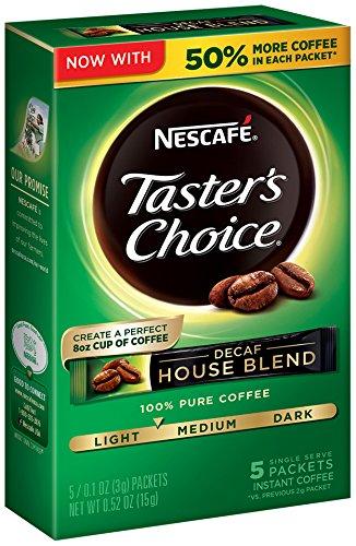 Nescafe Tasters Choice Decaf 5 Piece House Blend Instant Coffee Single Serve Sticks 052 oz