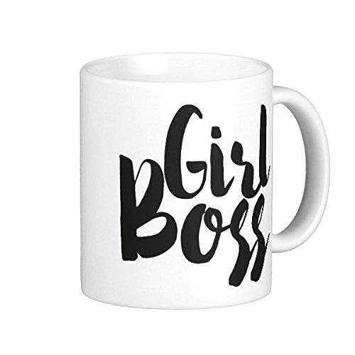 Girlboss White Coffee Mugs Black Personalised Coffee Travel Mugs