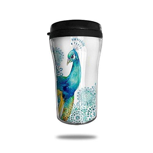 Beautiful Peacock Coffee Mug Cool Personalized Tea Mug Custom Printed Insulated Mugs 250 ML Travel Mugs Unique Design Cups