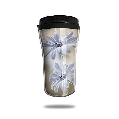 White Daisy Coffee Mug Cool Personalized Tea Mug Custom Printed Insulated Mugs 250 ML Travel Mugs Unique Design Cups